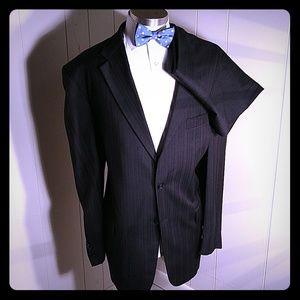 S. Cohen Montreal Black Brown pinstripe Suit